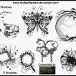 漂亮的时尚非主流系列艺术花纹PS装扮笔刷素材