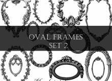 复古欧式画框、镜框花纹图案PS笔刷素材下载