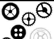 各种机械齿轮图案PS笔刷下载