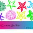 各种海星图案PS笔刷下载
