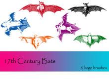恐怖蝙蝠、吸血蝙蝠图像PS笔刷下载