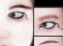 非主流眼线、泪线化妆效果PS笔刷