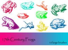 癞蛤蟆、青蛙、牛蛙等造影图像PS笔刷下载