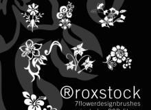 精美的鲜花植物印花图案PS植物花纹笔刷