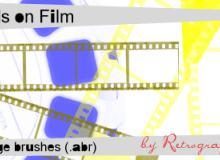 电影老胶卷纹理、旧胶片背景PS笔刷下载