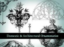 漂亮精美的欧式建筑雕塑、装饰图案PS笔刷下载
