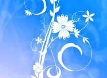 优美的艺术鲜花植物花纹PS笔刷素材下载