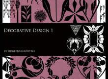 富丽堂皇的印花、植物花纹PS笔刷
