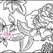 漂亮的线框式鲜花绽放图案PS笔刷下载