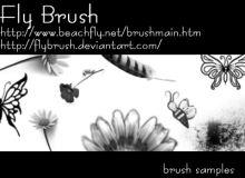 蝴蝶、鲜花图案PS装饰性笔刷素材
