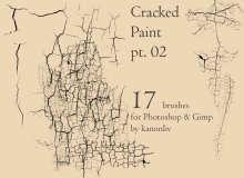 17种裂缝、龟裂纹理效果PS笔刷下载