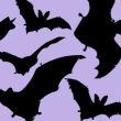 飞行的蝙蝠剪影图像PS笔刷素材