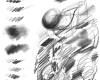 数字铅笔、石墨碳素笔纹理Photoshop工具预设素材 .tpl格式下载