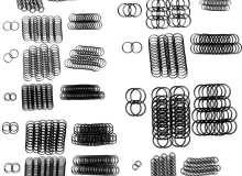 圆环锁甲、圆环锁链、圆环编制纹理PS笔刷下载