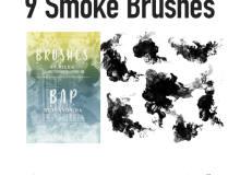 9种高级墨水在水中晕染的效果PS纹理笔刷素材