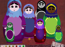 俄罗斯套娃装饰图案PS笔刷下载