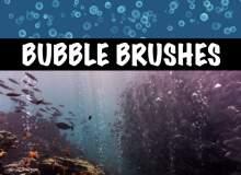 半透明小球、气泡纹理图案PS水中泡泡笔刷