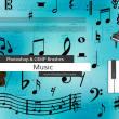 音符、五线谱装饰PS笔刷素材下载