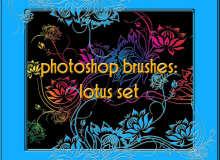 精美漂亮的艺术鲜花花纹图案PS笔刷素材
