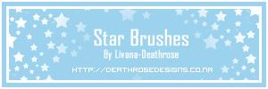 闪亮小星星图案、五角星背景装饰PS笔刷