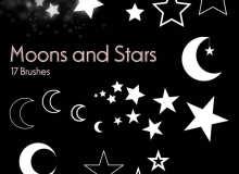 星星、月亮图像PS笔刷素材