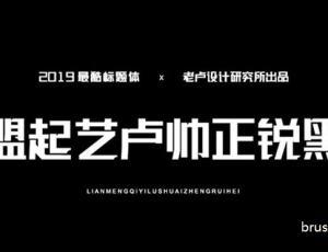 免费商用的标题字体:联盟起艺卢帅正锐黑体