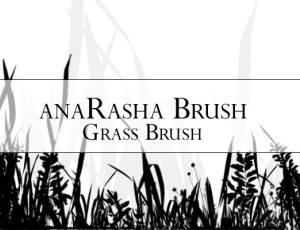野草丛、小草、草坪PS笔刷素材免费下载