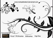 优美的艺术性印花、花纹图案PS笔刷素材