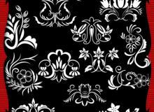 经典植物印花系列PS笔刷素材下载