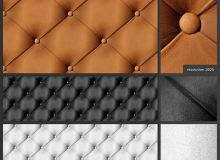 皮质沙发纹理图案PS填充素材笔刷