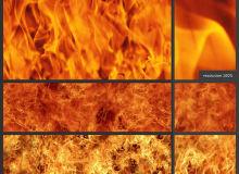 高清火海、火焰燃烧效果PS填充素材文件下载