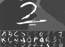 高清油漆、水墨液体滴溅、水墨英文字母效果PS笔刷素材下载(版本2.0)