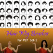 40种女士、女生假发头套、发型造型Photoshop美图头发笔刷 #.1