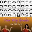 40种女士、女生假发头套、发型造型Photoshop美图头发笔刷 #.2