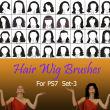 40种女士、女生假发头套、发型造型Photoshop美图头发笔刷 #.3