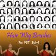 40种女士、女生假发头套、发型造型Photoshop美图头发笔刷 #.4
