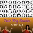 40种女士、女生假发头套、发型造型Photoshop美图头发笔刷 #.5