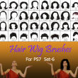 40种女士、女生假发头套、发型造型Photoshop美图头发笔刷 #.6