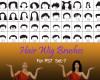 40种女士、女生假发头套、发型造型Photoshop美图头发笔刷 #.7
