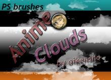 天空云朵、云彩图形Photoshop白云笔刷素材
