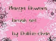 漂亮鲜花花朵印花、小花朵图案PS笔刷素材