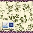 精美的鲜花花朵印花图案PS笔刷素材