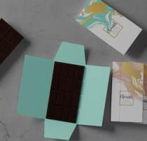 情人节巧克力包装设计PSD模板素材下载