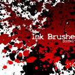 油漆、血迹、液体斑点滴溅纹理效果PS笔刷素材下载