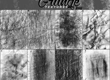 8种废旧、磨损、有划痕的纸张纹理PS笔刷素材(jpg图片格式)