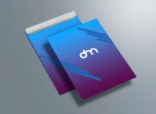 公司文件袋、企业公文袋PSD样机模板素材免费下载