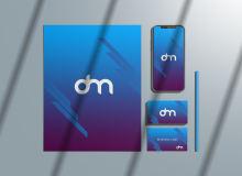 企业品牌建设方案PSD样机模板素材