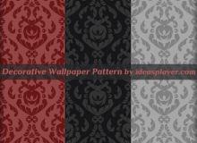经典欧式墙壁印花、植物花纹图案PS填充素材下载