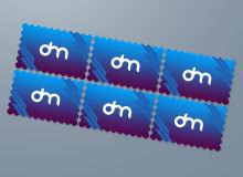邮票模板PSD样机素材下载