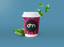 纸杯咖啡、杯装奶茶PSD样机模板素材下载